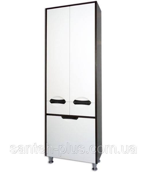 Пенал для ванной комнаты с корзиной Принц-60 К Венге