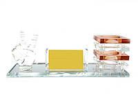Подставка для ручек и визиток хрусталь (25,5х8,8х10 см)