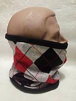 Зимний бафф, теплый шарф-труба, шапка (#510)