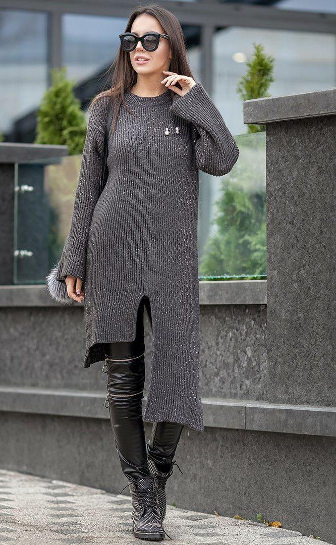 Туника-свитер с люрексом
