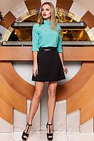 Женская бирюзовая блуза Лоренсити ТМ Jadone  42-48 размеры