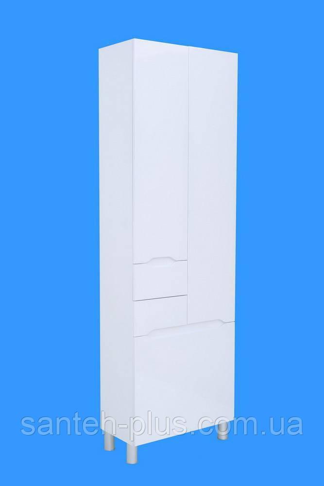 Пенал для ванной комнаты с корзиной Висла -60 К