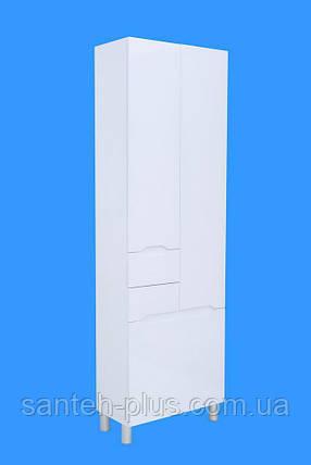 Пенал для ванной комнаты с корзиной Висла -60 К, фото 2