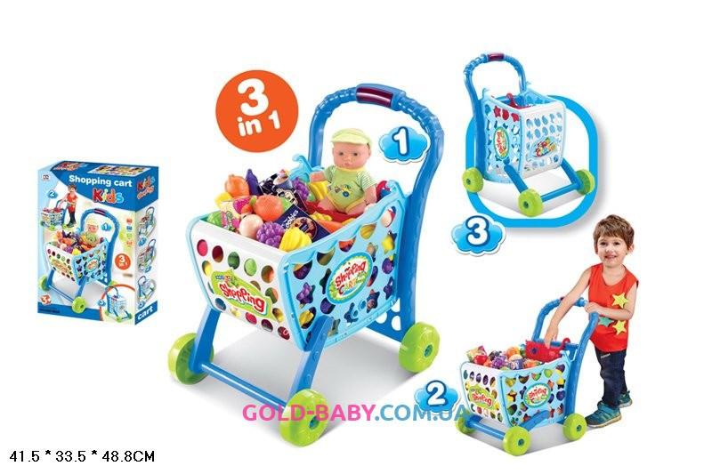 Тележка супермаркет с продуктами 008-903