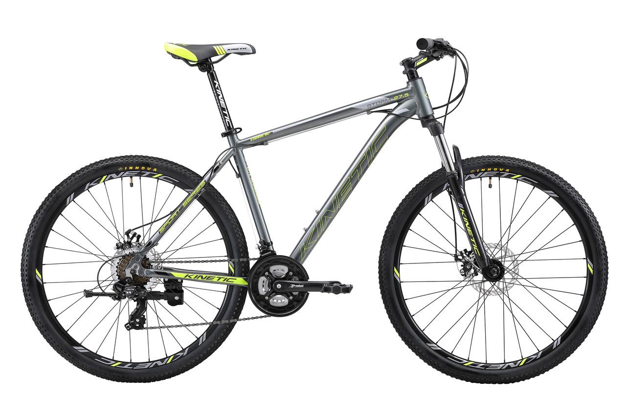 """Горный велосипед KINETIC STORM 27,5"""" 19""""  Серый"""