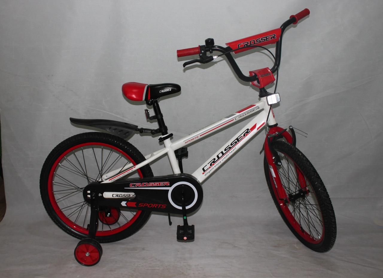 Велосипед двухколёсный 16 дюймов Azimut SPORTS CROSSER -1 бело-красный