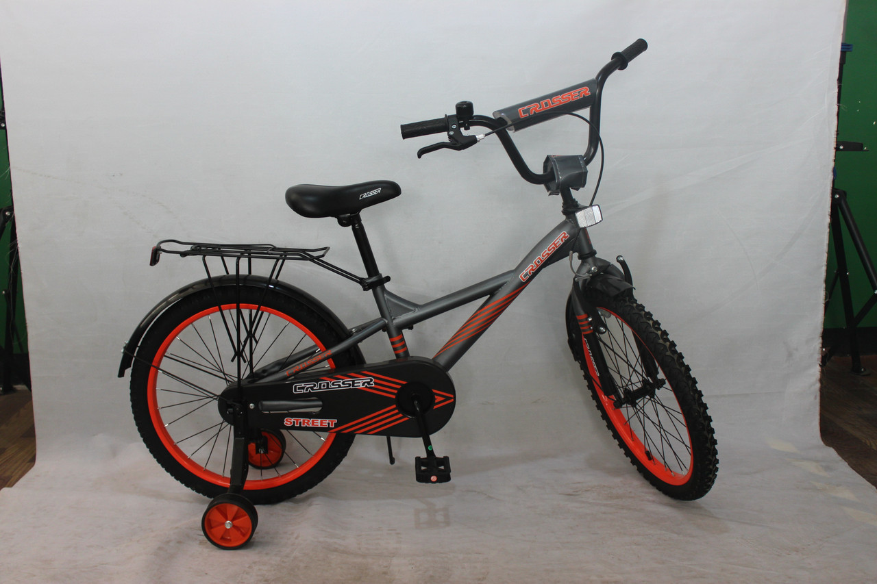 Велосипед двухколёсный 14 дюймов Azimut STREET CROSSER-7 черный***