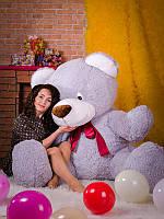 Мягкая игрушка медведь Большой Стёпа серый