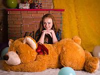 Большой плюшевый коричневый медведь