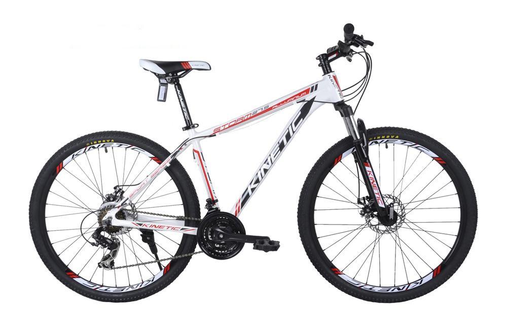 """Горный велосипед KINETIC STORM 27,5"""" 19""""  Белый/Красный"""
