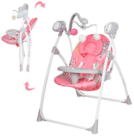 Детская качель M 1540-01, розовая ***