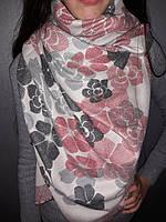 Кашемировый шарф цветы