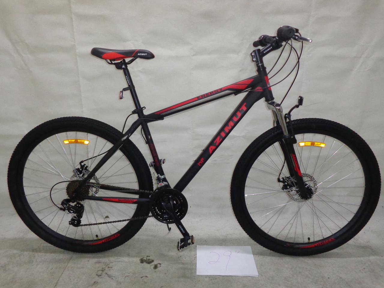Горный спортивный велосипед 29 дюймов 21 рама  Azimu Energy  (оборудов