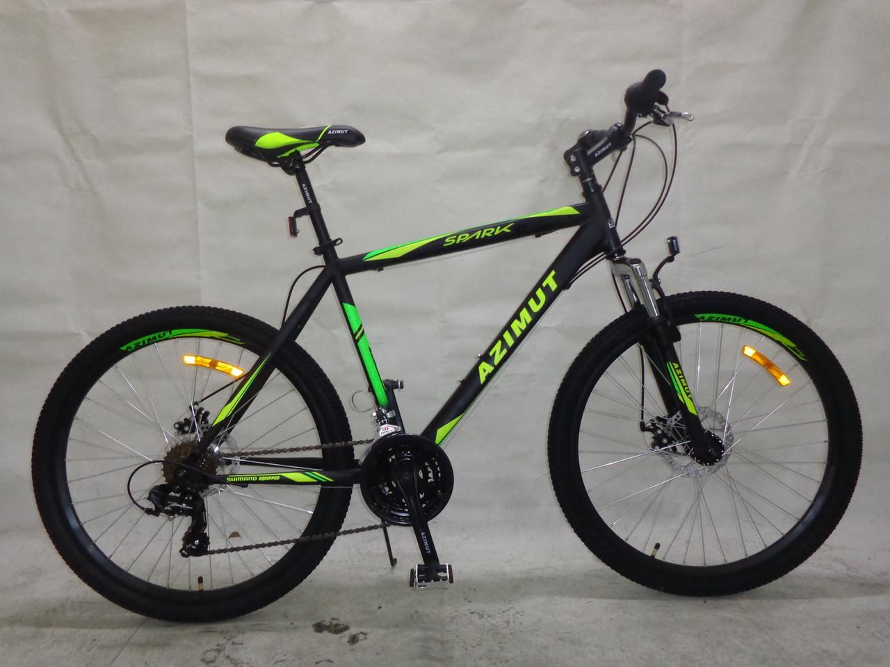 Горный спортивный велосипед 29 дюймов 21 рама Azimu Spark  (оборудован