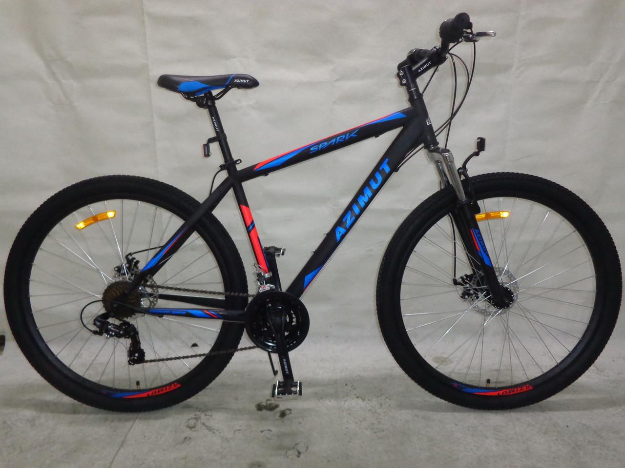 Горный спортивный велосипед 29 дюймов 19 рама Azimu Spark  (оборудован