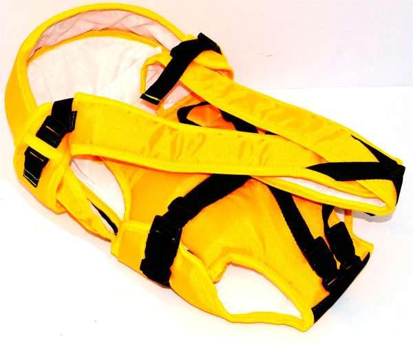 Гр Рюкзак-кенгуру №8 (1) лёжа,цвет жёлтый.Предназначен для детей с дву
