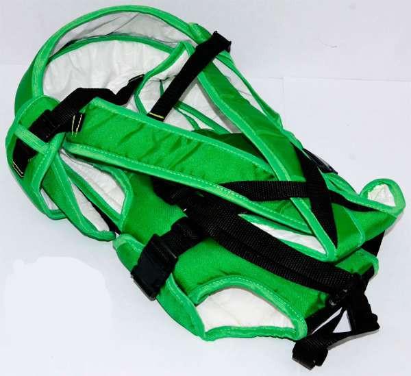 Гр Рюкзак-кенгуру №8 (1) лёжа,цвет зеленый.Предназначен для детей с дв