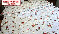 Двуспальный пододеяльник из бязи - Тернопольская розочка
