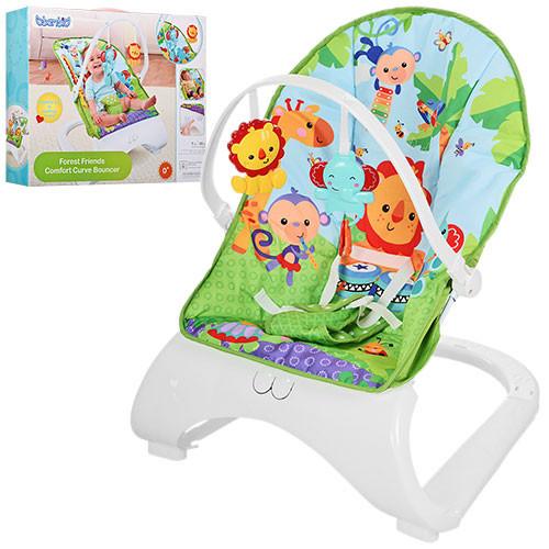 Шезлонг-кресло-качалка M 3251 (аналог Fisher-Price Тропические Друзья