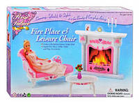 "Мебель ""Gloria"" 2618 софа,камин,столик,аксессуары, в кор.33*21,5*5,9см"