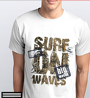 Футболки мужские, SURF, надпись