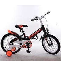 Велосипед детский PROF1 18д. W18115-4 (1шт) Original,черный,крылья,звонок,доп.колеса