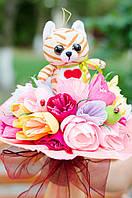 Красивый подарок для девочки - Мягкий букет Радуга