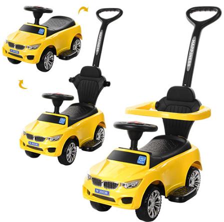 Машинка Каталка с ручкой M 3503B-6 BMW, желтый***