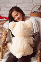 Мягкая плюшевая игрушка на подарок - Медвеженок с Ромашкой, персиковый