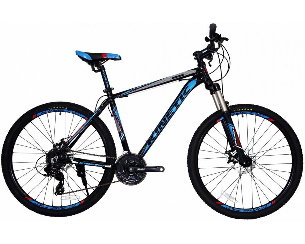 """Горный велосипед KINETIC CRYSTAL 27,5"""" 21""""  Черный/Синий"""