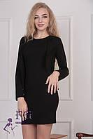 """Костюм """"Эсмик"""": платье+ жакет черный, 44"""