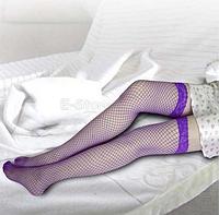 Чулки-сеточка фиолетовые