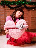 Приятный подарок для любимого человека - Аккуратная подушка в форме Сердца, нежно розовое