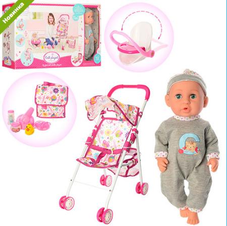Кукла-пупс с коляской 86906***
