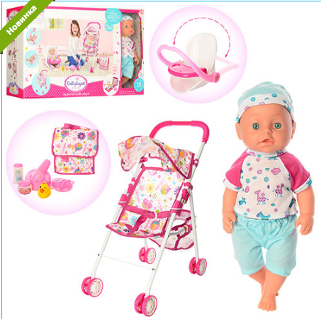 Кукла-пупс с коляской 86916***