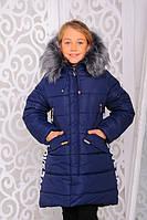 Красивая куртка, пальто зима для девочки 30 размер.Детская верхняя зимняя одежда!