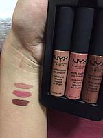 Набор стойких матовых помад 3 штуки NYX Soft Matte Lip Cream SET13, оригинал
