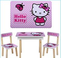 Детский столик со стульчиками и ящичком 503-16 Хелло Китти ***