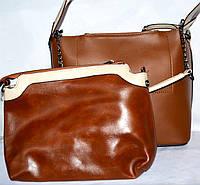 b688679b1330 Женская коричневая сумка с клатчем из экокожи 26*26 см производства Турция