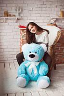 Мягкий плюшевый подарок - Большой медведь голубого цвета