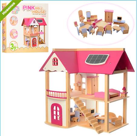 Деревянный кукольный домик MD 1068 ***