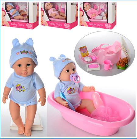 Кукла-пупс с ванночкой 30808-4-7 ***