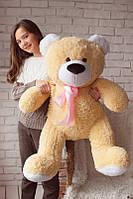 Мягкий плюшевый подарок - Большой медведь карамельного цвета