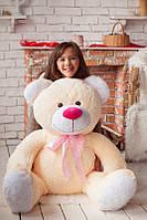 Мягкий плюшевый подарок - Большой медведь персикового цвета