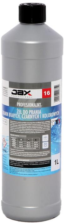 """Гель для прання тканин (білих, чорних, кольорових) JAX Professional """"16"""" з ензимами"""