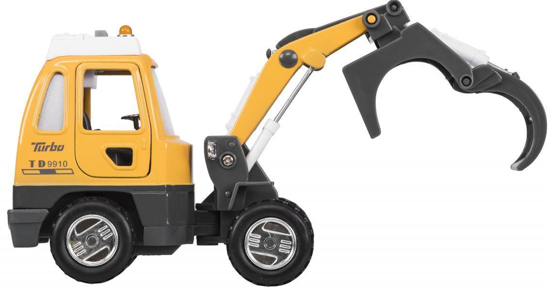 Интерактивная машинка металлическая Goki Грейдер 12107G-4