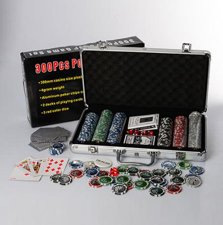 Настольная игра покер M 2778, 300 фишек  с номиналом 5-ти видов  ***