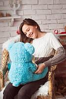 Игрушка для ребенка Медведь с ромашкой, голубой