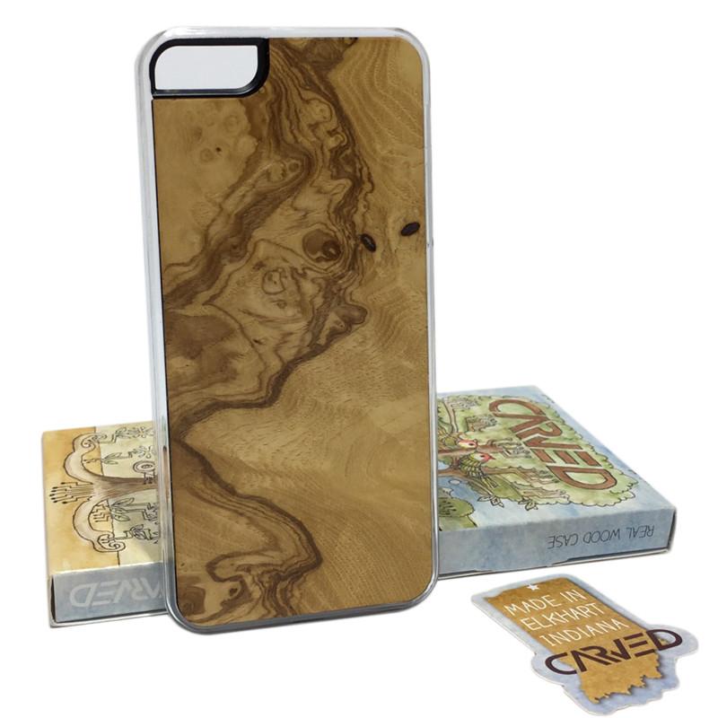 Чехол для iPhone 5/5S/SE Накладка из Дерева Carved (I5-CC1D)
