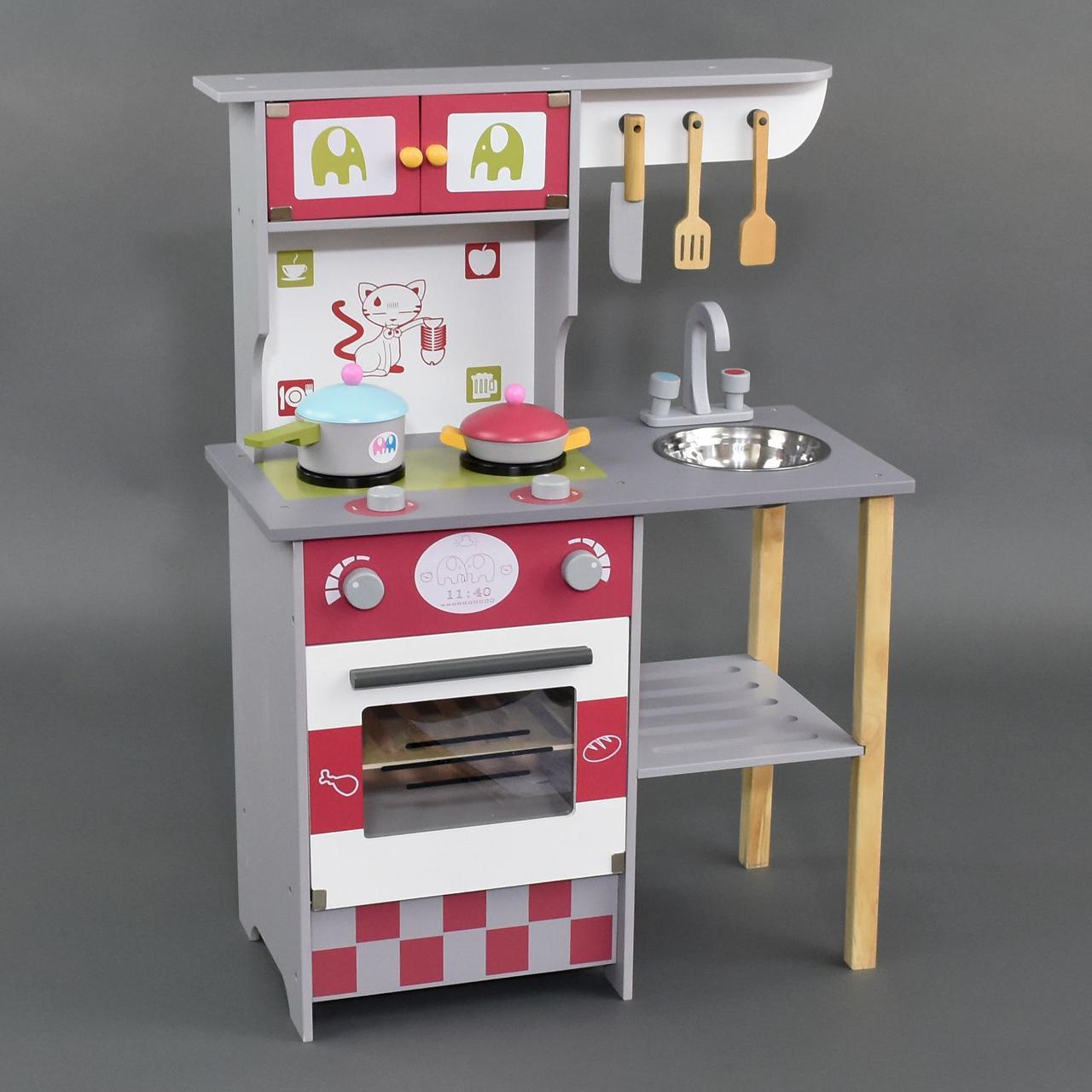 Кухня детская деревянная высокая 84 см С 23049 ***